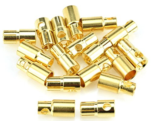 Apex RC Products 6.0mm Male/Female Gold Plated Bullet Connectors Plugs - 10 Pair #1107