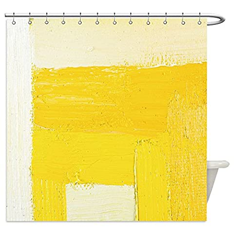 Vanfan Shower Curtains abstract wallpaper texture background of an original oil white and yellow painting on canvas with 285428663 For - Madison Florals Wallpaper