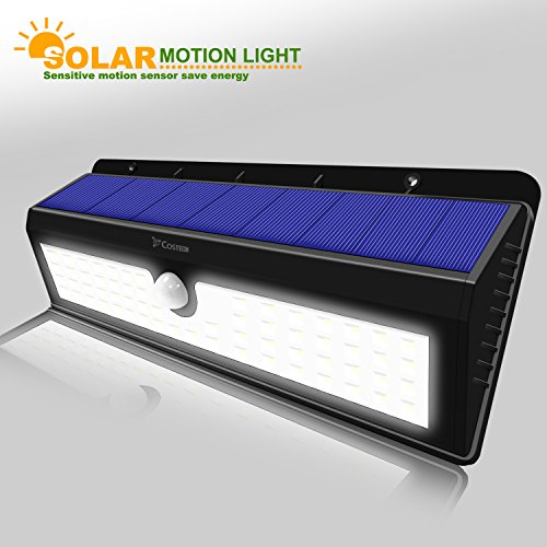Solar Powered 62 Led Dusk To Dawn Waterproof Motion Sensor