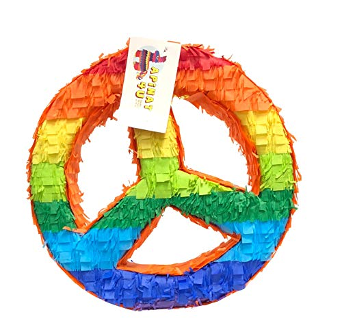 APINATA4U Rainbow Peace Sign Pinata ()