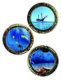 1art1 75301 Fenster - Crystals Wand-Tattoo Aufkleber Poster-Sticker 85 x 65 cm