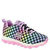 Skechers Kids Girls' Skech-Air-Dotty Daze Sneaker, Black/Multi Dotty, 12 M US Little Kid