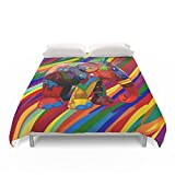 Society6 Full Color Abstract Elephant IPhone 4 4s 5 5c 6, Pillow Case, Mugs And Tshirt Duvet Covers Queen: 88'' x 88''