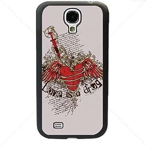 Valentine's Day Gift Sweet Heart Love Samsung Galaxy S4 SIV I9500 TPU Soft Black or White case (Black)