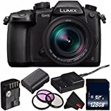 Panasonic Lumix DC-GH5 Mirrorless Micro Four Thirds Digital Camera with 12-60mm 2.8-4 Lens DC-GH5LK (International Model) + DMW-BLF19 Lithium Ion Battery + 128GB SDXC Class 10 Memory Card Bundle