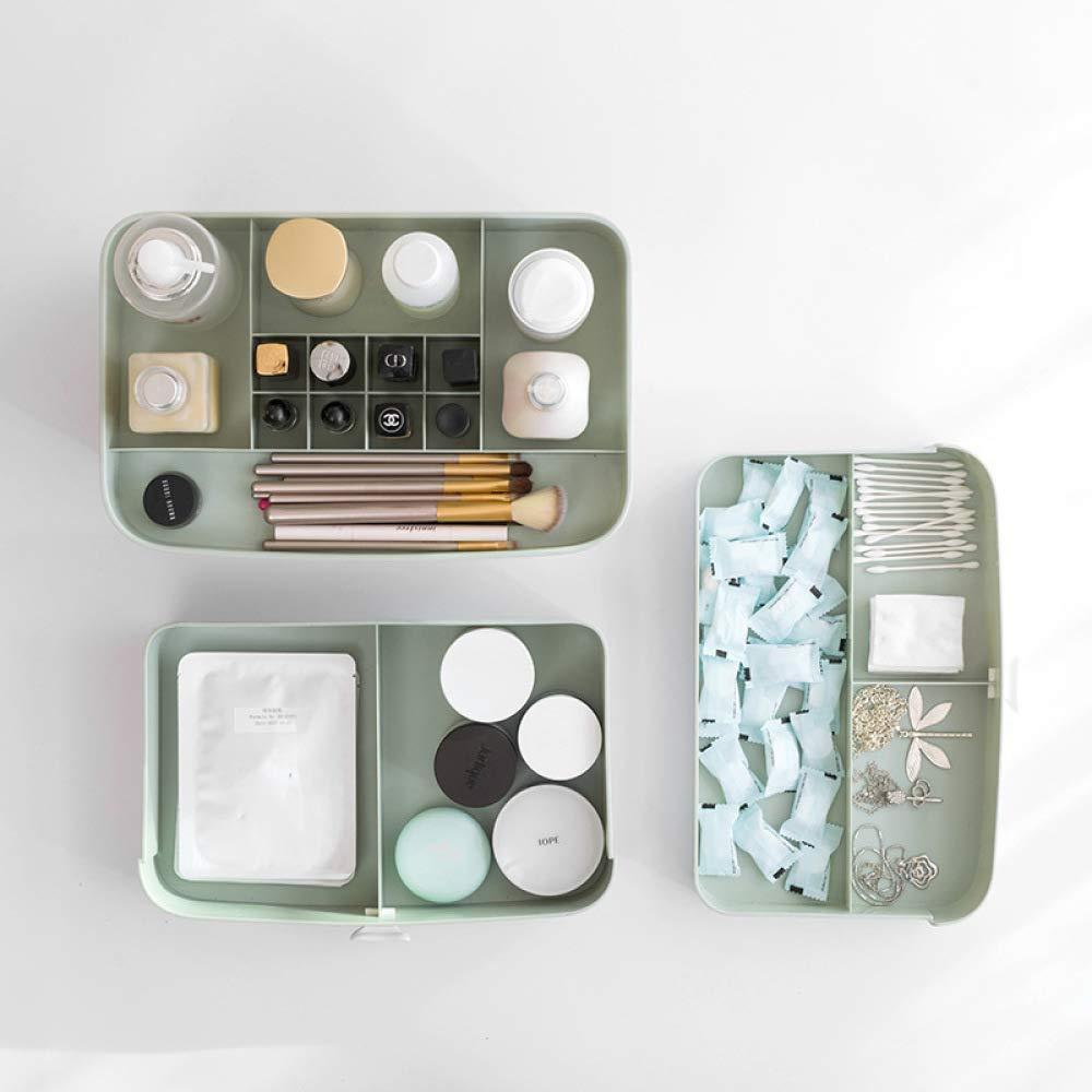 QJKai Caja de almacenamiento multiusos de sobremesa con cajones tipo tipo tipo caja de acabado de joyeriacute;a de cosmeacute;ticos 378f4a