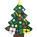 NIGHT-GRING 2016-New 3 Felt Christmas Tree Set with Ornaments - Wall Hanging