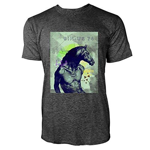 SINUS ART ® Mann mit Pferdekopf