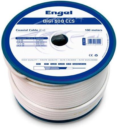 Engel Bobina DE Cable COAXIAL 100M Profesional DIGI ...