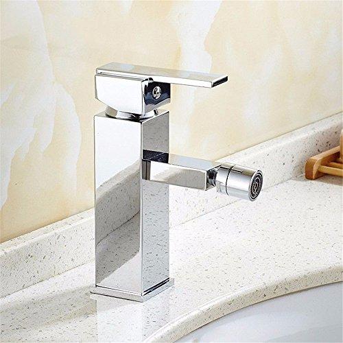 Bathroom Sink Faucet Basin//Mixer Tap/Basin Mixer Tap/Lavatory Faucets/Bathroom Sink Faucet/Sink Faucet Chrome Plated Silver Washbasin, Taps Bath, Washbasin Taps, Bidet Washer, Single Hole Taps by Sink Taps FUNUAN