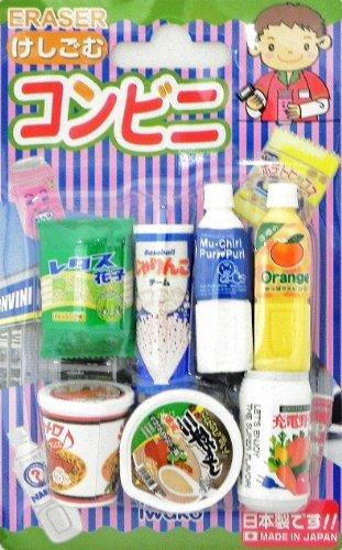 - Snack & Drink Eraser Set