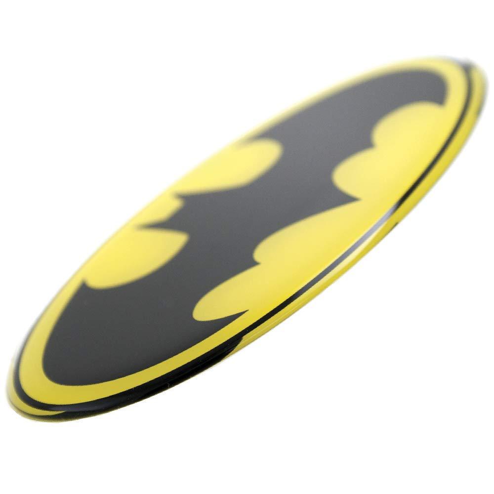 Motorcycles Laptops Windows Trucks Fan Emblems Batman Logo Car Decal Domed//Black//Yellow//Chrome Finish Almost Anything DC Comics Automotive Emblem Sticker Applies Easily to Cars
