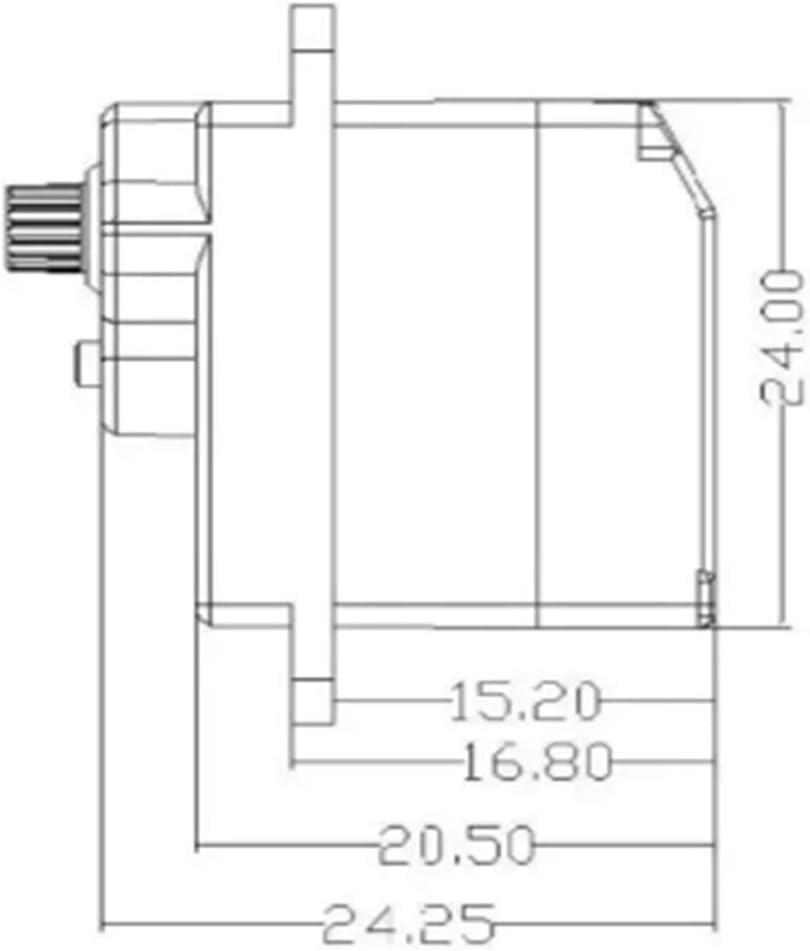 Fixed Wing Lenkung ES08MAII 12G Servo Mini Metal Gear Lenkmeeres Fahrzeug-Brushless-Lenkung Analog Lenkung