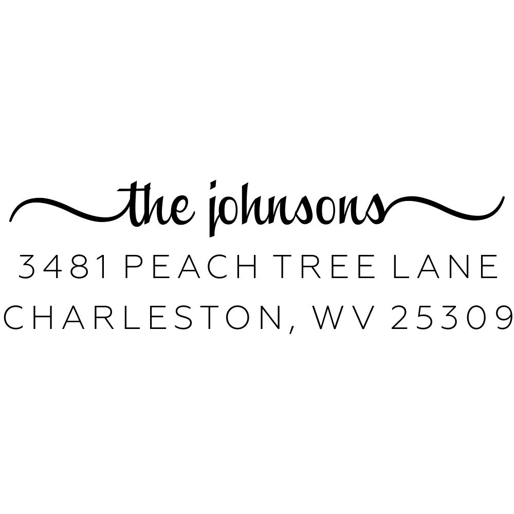 Custom Return Address Stamp, The Johnsons Personalized Address Stamp