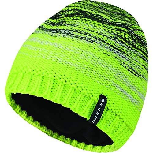 Lined 2b Rile Knit Mens ElectricLime Hat Dare Warm Acrylic Fleece gU0q0C