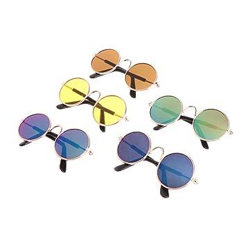 ZOOMY Gafas para Mascotas Traje Protección UV Gafas Gafas de Sol Fotos Props Fresco Caliente para Gato Pequeño Perro Mascota Color Aleatoriamente: ...