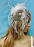 Great Gatsby Flapper Headpiece, Art Deco Crystal Boho Hat