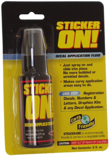 Hardline Products Sticker-On! Decal Application Fluid, 2 -