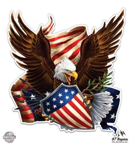 GT Graphics American Eagle Shield Patriotic - 12