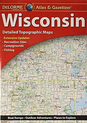 Garmin DeLorme Atlas & Gazetteer Paper Maps- Wisconsin (010-12664-00)