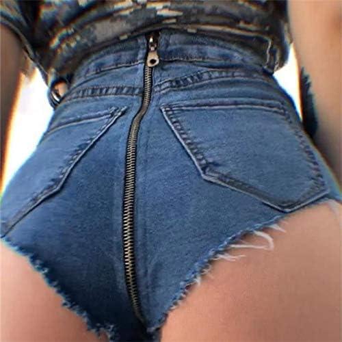 Asffdhley Women Denim Shorts Women's Mid Rise Shorts Jean Shorts Frayed Hem Ripped Denim Shorts Hot Pants (Size : M)