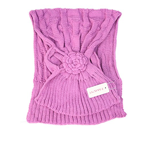 HYP Three-dimensional flower autumn and winter pure color girl warm and sweet