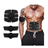 Muscle Toner, Abdominal Toning Belt EMS ABS Toner Body Muscle Trainer Wireless Portable Unisex Fitness Training Gear for Abdomen/Arm/Leg Training Home Office Exercise Workout Equipment