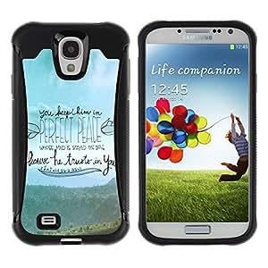 """Pulsar iFace Series Tpu silicona Carcasa Funda Case para Samsung Galaxy S4 IV I9500 , Religión cristiana de la cita bíblica Cristo"""""""