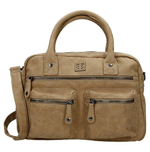 Enrico Benetti 66045 Jura Faux Leather Grab Handbag Taupe