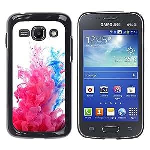 For Samsung Galaxy Ace 3 III / GT-S7270 / GT-S7275 / GT-S7272 Case , Water Fluid Dynamic Pink White - Diseño Patrón Teléfono Caso Cubierta Case Bumper Duro Protección Case Cover Funda