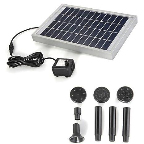 Bomba Agua Panel Energía Solar para Fuente Estanque 12V 380L ...