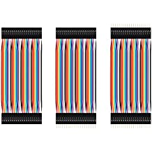 CHENBO(TM) 120pcs 10cm 2.54mm Multicolored 40pin Male to Male,40pin Female to Female,40pin Male to Female, Color Breadboard Cable Jump Wire Jumper For Arduino