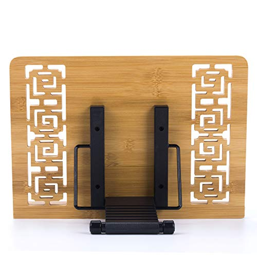 Reodoeer Bamboo Book Stand Reading Rest Cook Book Document Holder Foldable Pad Textbook Files Stand by Reodoeer (Image #5)