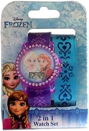 Disney Frozen LCD Watch, 2 Bands Set
