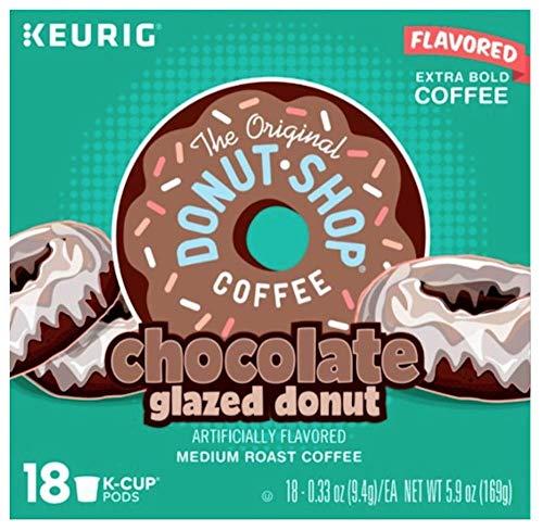 The Original Donut Shop Coffee Chocolate Glazed Donut 18 K Cups