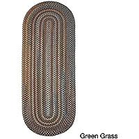 Rhody Rug Augusta Braided Wool Runner Rug (2 x 8) Green