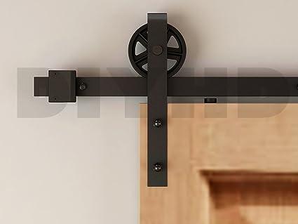 Amazon Diyhd 8ft Industrial Wheel Sliding Barn Wood Door