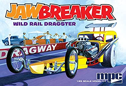 CPM MPC MPC821 1:25 Scale Jawbreaker Rail Dragster Model Kit, Multi