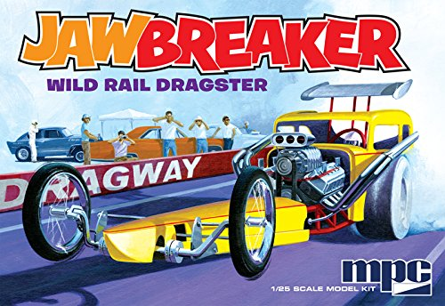 MPC 1/25 Scale, JAWBREAKER, Wild Rail Dragster, Model Car Kit, MPC821