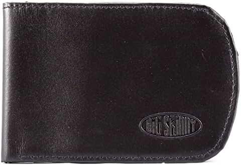 Big Skinny Men's Curve Leather Bi-Fold Slim Wallet, Holds Up to 20 Cards