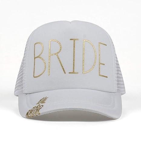 ENGXING Gorras De Béisbol Impresión De Oro Sombreros Mujeres Boda ...