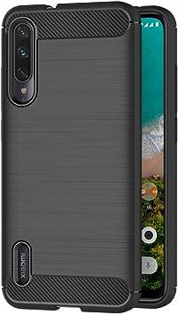 AICEK Funda Compatible Xiaomi Mi A3 / Xiaomi Mi CC9e, Negro Silicona Fundas para Xiaomi Mi A3 Carcasa Xiaomi A3 Fibra de Carbono Funda Case (6,01 Pulgadas): Amazon.es: Electrónica