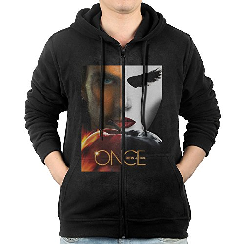 Men Once Upon A Time Sweatshirts Warm Knitted Casual Zip-Up Hoodies ()