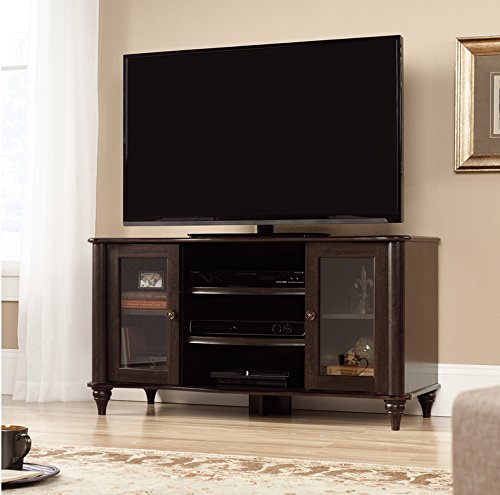 Sauder Office Furniture New Albany TV Stand in Jamocha Wood