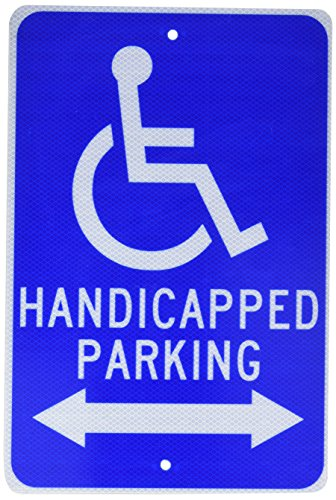 Arrow Sign Double (NMC TM154J Handicap Parking Sign, Legend