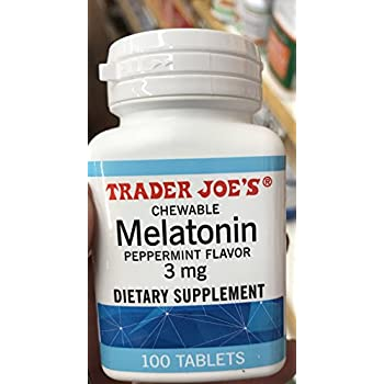 Trader Joes Chewable Melatonin Pepermint Flavor 3mg (pack of 1)