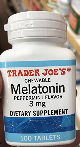 Trader Joe's Chewable Melatonin Pepermint Flavor 3mg (pack of 1) by Trader Joe's