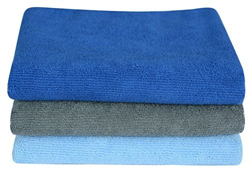 SINLAND Microfiber Gym Towels Sports Fitness Workout Sweat Towel Super Soft and Absorbent3 Pack 16 Inch X 32 Inch