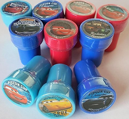 Stampers Party Favors Disney Cars 3 Self-Inking Stamps 10 Counts