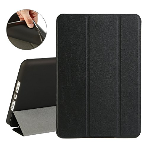 TKOOFN iPad Mini Case,iPad Mini 2/3 Case, Smart Stand Cover Case Soft TPU Back with Auto Sleep/Wake Function for Apple iPad Mini/iPad Mini 2 / iPad Mini 3(Black)